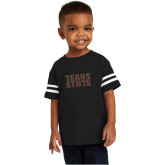 Toddler Black Jersey Tee-Texas State Stacked