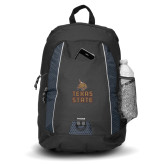 Impulse Black Backpack-Texas State Logo Stacked