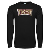 Black Long Sleeve T Shirt-TXST Texas State