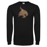 Black Long Sleeve T Shirt-Bobcat Logo