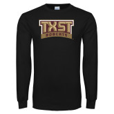 Black Long Sleeve T Shirt-TXST Bobcats