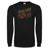 Black Long Sleeve T Shirt-Eat em up Cats