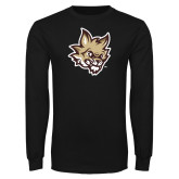 Black Long Sleeve T Shirt-Mascot Head
