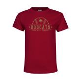 Youth Maroon T Shirt-Bobcats Baseball