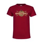 Youth Maroon T Shirt-Bobcats Basketball
