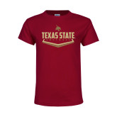 Youth Maroon T Shirt-Texas State Softball