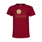 Youth Maroon T Shirt-Texas State Volleyball