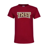 Youth Maroon T Shirt-TXST Texas State