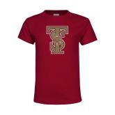 Youth Maroon T Shirt-Baseball TS
