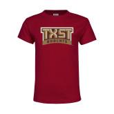 Youth Maroon T Shirt-TXST Bobcats