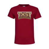 Youth Maroon T Shirt-TXST