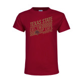 Youth Maroon T Shirt-Eat em up Cats