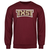 Maroon Fleece Crew-TXST Texas State