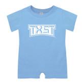 Light Blue Infant Romper-TXST Texas State
