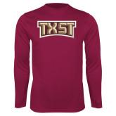 Performance Maroon Longsleeve Shirt-TXST Texas State