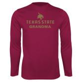 Performance Maroon Longsleeve Shirt-Grandma