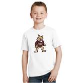 Youth White T Shirt-Mascot