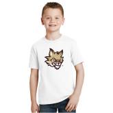 Youth White T Shirt-Mascot Head