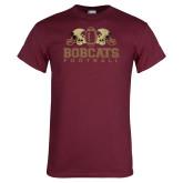 Maroon T Shirt-Bobcats Football
