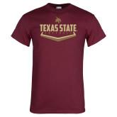 Maroon T Shirt-Texas State Softball
