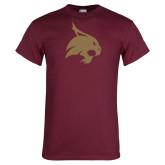Maroon T Shirt-Bobcat Logo