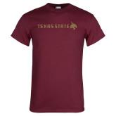 Maroon T Shirt-Texas State Horizontal