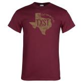 Maroon T Shirt-TXST Eat em up Cats