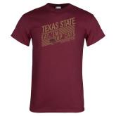 Maroon T Shirt-Eat em up Cats