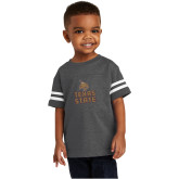 Toddler Vintage Charcoal Jersey Tee-Texas State Logo Stacked