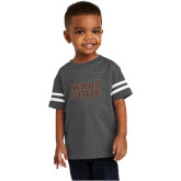 Toddler Vintage Charcoal Jersey Tee-Texas State Stacked