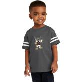 Toddler Vintage Charcoal Jersey Tee-Bobcat Mascot