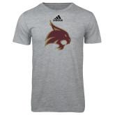Adidas Sport Grey Logo T Shirt-Bobcat Logo