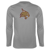 Performance Steel Longsleeve Shirt-Bobcat Logo