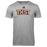 Adidas Climalite Sport Grey Ultimate Performance Tee-TXST Texas State