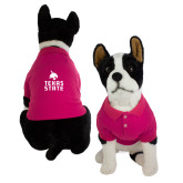 Classic Fuchsia Dog Polo-Texas State Logo Stacked