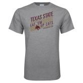 Grey T Shirt-Eat em up Cats