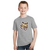 Youth Grey T Shirt-Mascot Head