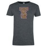Ladies Dark Heather T Shirt-Baseball TS