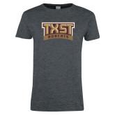 Ladies Dark Heather T Shirt-TXST Bobcats