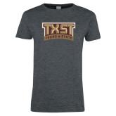 Ladies Dark Heather T Shirt-TXST