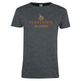 Ladies Dark Heather T Shirt-Alumni