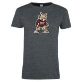 Ladies Dark Heather T Shirt-Mascot