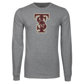 Grey Long Sleeve T Shirt-Baseball TS