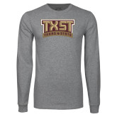 Grey Long Sleeve T Shirt-TXST