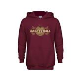 Youth Maroon Fleece Hoodie-Bobcats Basketball