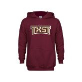Youth Maroon Fleece Hoodie-TXST Texas State