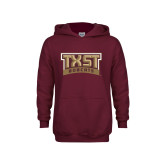 Youth Maroon Fleece Hoodie-TXST Bobcats