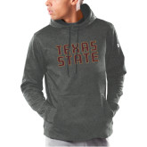 Under Armour Carbon Armour Fleece Hoodie-Texas State Stacked