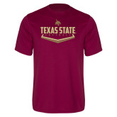 Performance Maroon Tee-Texas State Softball