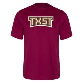 Performance Maroon Tee-TXST Texas State